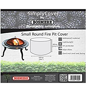 Bosmere Q560 Small Round Simply Blackberry Fire Pit Cover - Black by BOSMERE PRODUCTS LIMITED