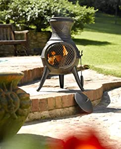 Bronze Cast Iron Chiminea from LA HACIENDA