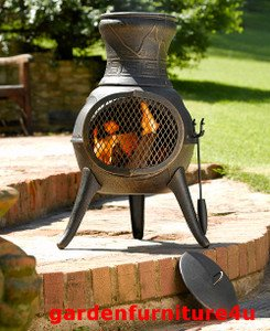 Bronze Squat 100 Cast Iron Chiminea Chimenea Patio Heater