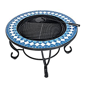 Btm Camping Bbq Grill Outdoor Patio Fire With Camping Fire Bowl Pit For Garden With Mesh Screen by BTM