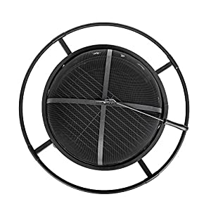 Btm Camping Firebowl With Grill Outdoor Patio Fire Pit For Garden Camping Bbq With Mesh Screen by BTM