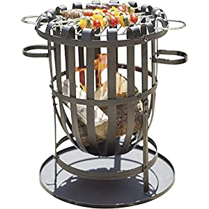 Buenavista Steel Brazier Fire Basket Patio Heater Wood Burner Charcoal Burner Bbq Grill Set With Ash Pan And Accessories For Garden Open Fires Patio Cooking And Fire Pit by Clifford James