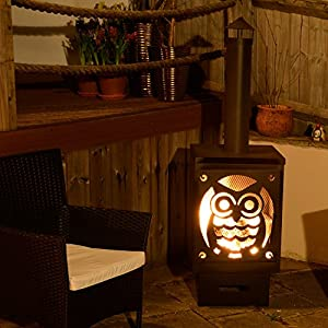 Buho Black Metal Garden Chiminea from Simply Summer