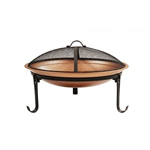 Camelot Steel Copper Coloured Cauldron Fire Pit by Camelot