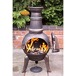 Cast Iron Garden Chiminea With A Steel Funnel Granada Medium 90cm by Perfect Plants