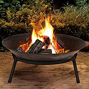 Cast Iron Garden Fire Pit Basket Patio Heater Log Wood Charcoal Burner Brazier from MTS