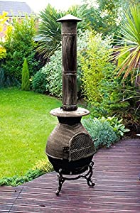 Cast Iron Large Chimenea Chiminea 180cm 6ft Bnib 6ft 180cm