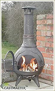 Castmaster Calico Cast Iron Chiminea Free Bbq Grill Included - Bronze Finish from Castmaster