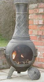 Castmaster Heavy Weight Basketweave Cast Iron Chiminea- Bronze Finish by Castmaster