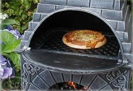 Castmaster Large Cast Iron Chiminea Outdoor Pizza Oven From Castmaster