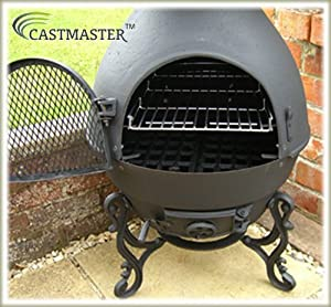 Castmaster Pasadena Cast Iron Chiminea Black