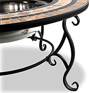 Centurion Supports Fireology Beluga Opulent Garden Patio Heater Fire Pit Brazier Coffee Table Barbecue And Ice Bucket - Marble Finish from Centurion Supports