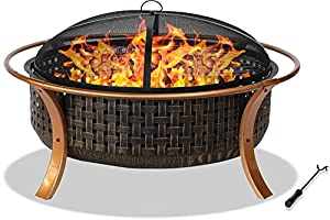 Centurion Supports Fireology Capulet Elegant Garden Patio Heater Fire Pit Barbecue And Ice Bucket - Copper Finish from Centurion Supports