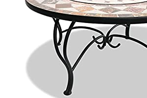 Centurion Supports Fireology Kennocha Extravagant Garden Patio Heater Fire Pit Brazier Coffee Table Barbecue And Ice Bucket - Marble Finish from Centurion Supports