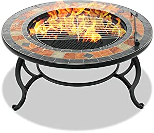 Centurion Supports Fireology Laniaka Garden Heater Fire Pit Coffee Table Barbecue Ice Bucket - Slate Finish by Centurion Supports