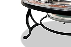 Centurion Supports Fireology Laniaka Lavish Garden Patio Heater Fire Pit Brazier Coffee Table Barbecue And Ice Bucket With Slate Tiles from Centurion Supports