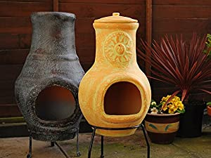 Ceramic Natural Chimenea Stove Pot from Koopman
