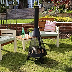 Charles Bentley Mesh Vermont Garden Chimenea Chimnea Bbq Patio Heater 120cm Fire Pit from Charles Bentley
