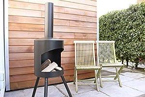 Chiminea Authentic Medium - 140 X 40cm - Black 140 X 40 Cm Medium by 2L Home and Garden