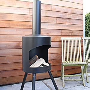 Chiminea Authentic Xl - 160 X 50cm - Black 160 X 50 Cm Large by 2L Home and Garden