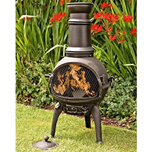 Chiminea Cast Iron La Hacienda Lisbon Cast Iron Chiminea Medium Black