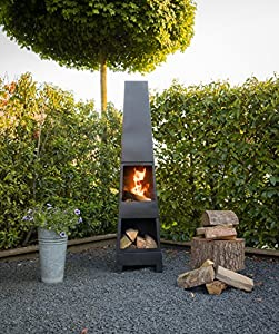 Chiminea Outdoor Fireplace Madrid - Free Shipping from 2L Home & Garden