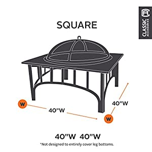 Classic Accessories 55-091-011501-00 Patio Square Fire Pit Cover by Classic Accessories