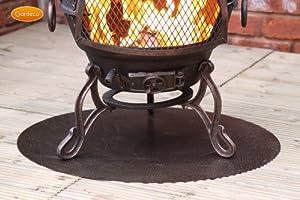 Clay And Metal Chimenea Accessories Steel Floor Protector 60cm X 70cm from UK-Gardens