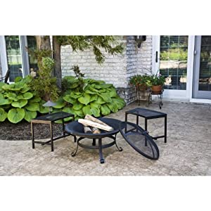 Cobraco Fb1001 Steel Basic Fire Pit With Scroll Legs by Woodstream Europe Limited