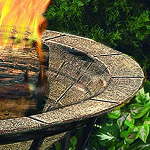 Cobraco Fb6102 Round Cast Iron Brick Finish Fire Pit Bowl from Woodstream Europe Limited