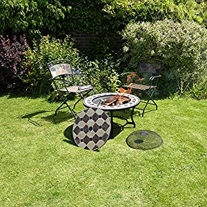 Corsica Mosaic Fire Pit Table from VISTERA