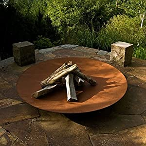Corten Steel Bowl Burners -fire Pits 120cm Garden Heating Heater Feature Furniture Patio by Round Wood Trading