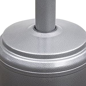 Costway 13kw Gas Patio Heater Stainless Steel Outdoor Garden Fire Pit Silver Gray by Costway