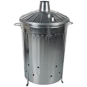 Crazygadget 125 Litre 125l Extra Large Galvanised Metal Incinerator Fire Burning Bin With Special Locking Lid from CrazyGadget®