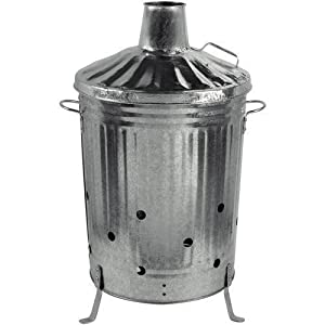 Crazygadget 90 Litre 90l Extra Large Galvanised Metal Incinerator Fire Burning Bin With Special Locking Lid by CrazyGadget®