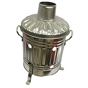 Crazygadget Mini Garden Incinerator Small Fire Bin Galvanised 15 Litre 15l Burning Wood Leaves Paper