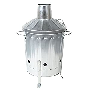 Crazygadget Small Medium Large Extra Large Galvanised Metal Incinerator Fire Burning Bin With Special Locking Lid 15 Litre from CrazyGadget®