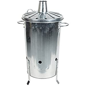 Crazygadget Small Medium Large Extra Large Galvanised Metal Incinerator Fire Burning Bin With Special Locking Lid 18 Litre from CrazyGadget®