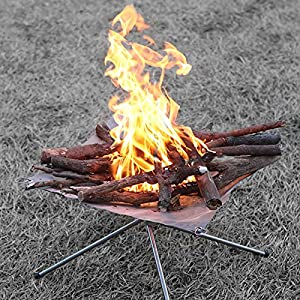 Da Jia Inc Portable Folding Stainless Steel Fire Pit With Carrying Case Outdoor Bonfire Stand Mesh Sheet from Da Jia Inc