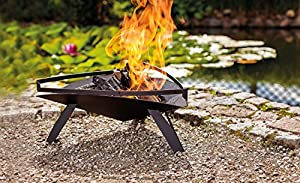 Dobar Fire Pit Fire Place Design For Garden Balcony Terrace Triangular For Outdoors Steel Powder Coated Black 485x53x225 Cm 35418 from dobar