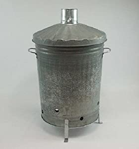 Durable Garden Incinerator 90ltr Galvanised Fire Burning Wood Paper Manufacturer Seconds from OnlineDiscountStore