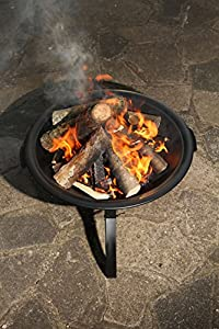 East2eden Black Steel 55cm Patio Heater Garden Firepit Fire Pit Barbecue Barbeque Bbq With Poker by east2eden