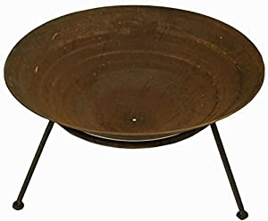 East2eden Rusty Rustic Copper Steel 70cm Patio Heater Garden Firepit Fire Pit by east2eden