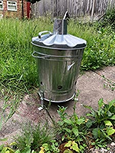 Easy Shopping 15 Litre 15l Mini Incinerator Small Heavy Duty Galvanised Metal Recycle Garden Rubbish Fire Burning Leaves Paper Fire Bin from UK