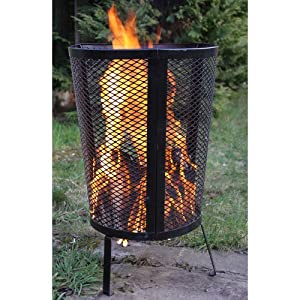 Environmentally Friendly Large Outdoor Steel Round Garden Incinerator - Ideal For Keeping Warm Burning Your Rubbish