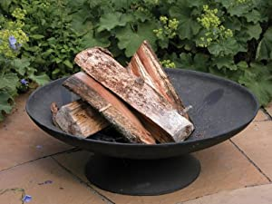 Esschert Ff44 21 X 59 X 59cm Large Fire Bowl Cast-iron - Black by Esschert