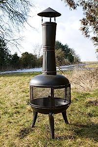 Captivating Extra Large Black Steel Mesh 140cm Chiminea Chimenea Patio Heater