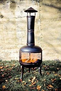 Extra Large Black Steel Mesh 140cm Chiminea Chimenea Patio Heater