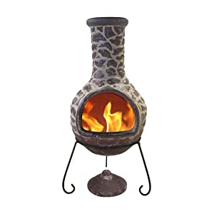 Extra Large Brown 125cm Outdoor Clay Chimenea Designed In The Style Of Original Rock