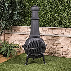 Extra Large Cast Iron Chiminea by Fire Mountain